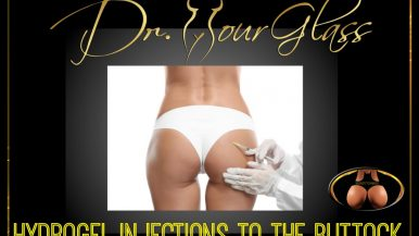 Hydrogel injections to the buttock